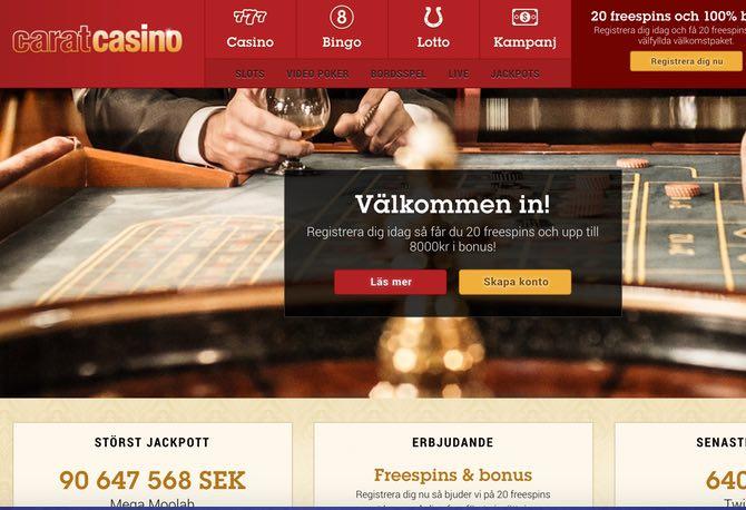 Carat Casino Web