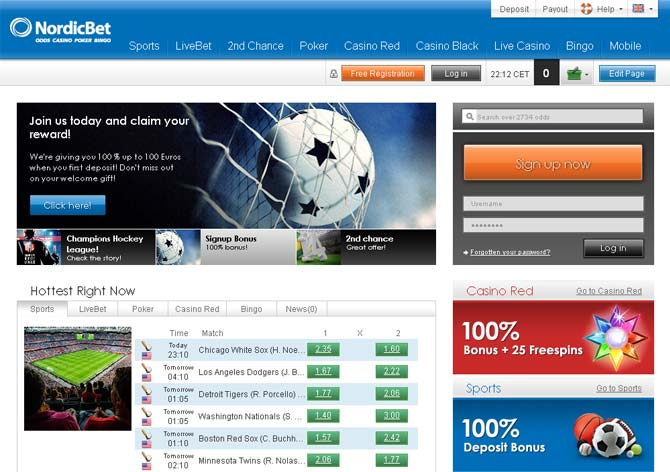 nordicbet screenshot