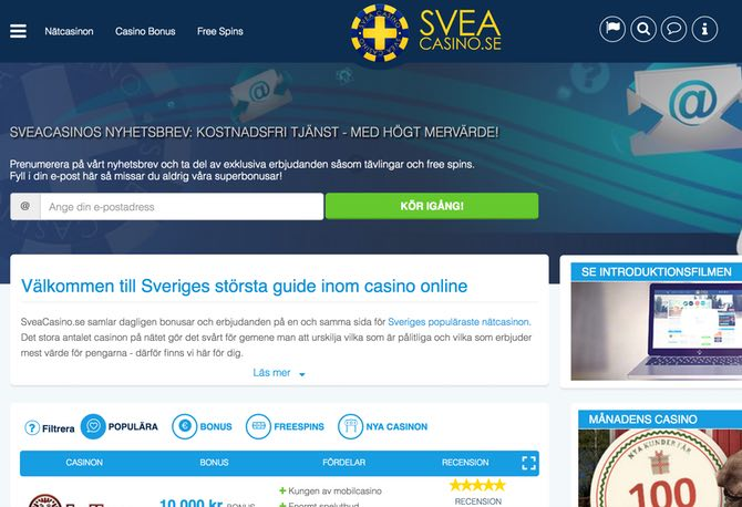 Svea Casino Web
